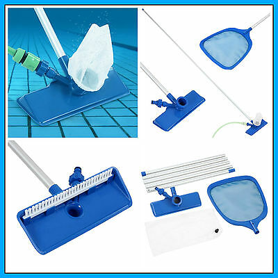 Swimming Pool Vacuum Cleaner Kit Net Filter Head Hose Cleaning Water Spa Hotel