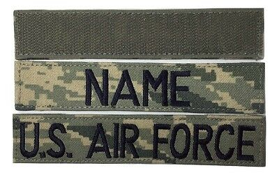 2 piece ABU Custom Name Tape & USAF Tape set, with Fastener - Military