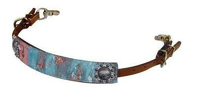 "Showman ""Copper Patina"" Print Leather Wither Strap BARREL RACING! HORSE TACK!"