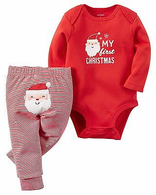 Carter's  Baby Girls' or Boys' 2-Piece Christmas Set    MSRP$24.00  NB--18M