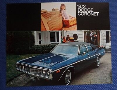 1972 Dodge CORONET Color Sales Brochure - New Old Stock - FREE USA Shipping!