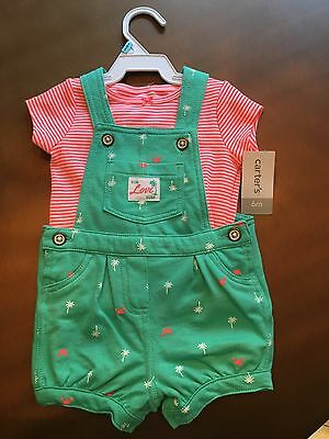 Carter's Two Piece Shirt and Overall Set NWT