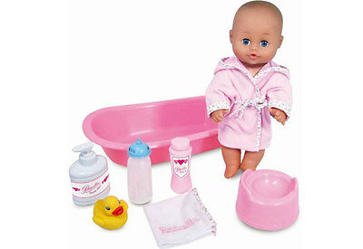 Baby Doll and Pretend Bathing Playset by Petitcollin