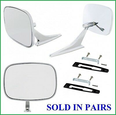 Buick Square Exterior Rearview Door Mirrors w/ Gaskets & Screws Universal