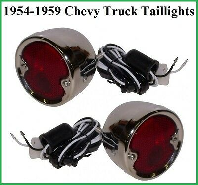 1954-1959 Chevy GMC Pickup Truck Stainless Steel Taillights Tail Light Assembley