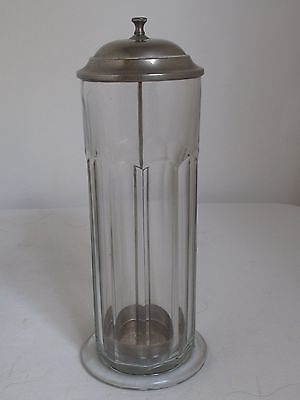Antique  Soda Fountain  Glass Straw Holder