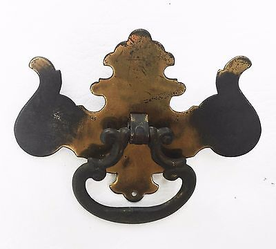 Antique Hardware Furniture Colonial Brass drawer pull Chippendale Batwing