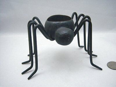 Heavy Metal Spider Tealight Votive Candle Holder Halloween Pottery Barn
