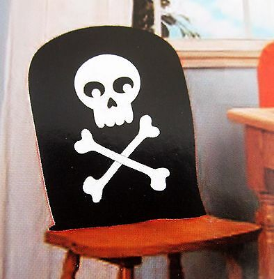 Super Pirate Skeleton Bones Skull Chair Cover Halloween Decor Caraccident5 Cool Chair Designs And Ideas Caraccident5Info