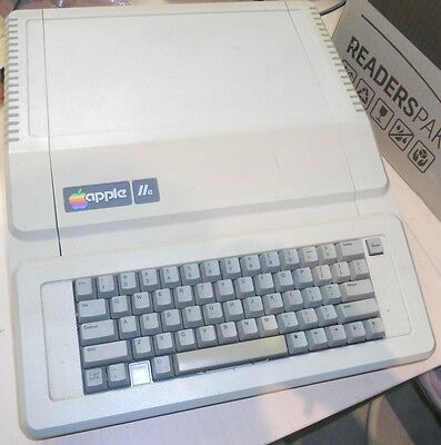 """Apple IIe """"Enhanced"""" vintage 8-bit computer from USA in 1983"""