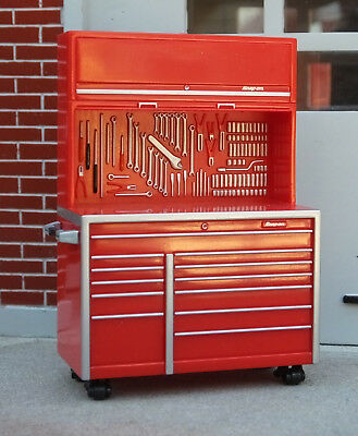 Snap On Tool Box Double Wide Body w Coasters 1/24 Scale G Scl Diorama Accessory