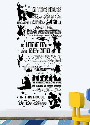 In This House We Do Disney Style Quote new Vinyl Wall Art Sticker Mural Kids n