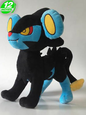 "FAST SHIPPING Luxray 12"" 30cm Pokemon Go Game Anime Figure Soft Plush Toy Doll"