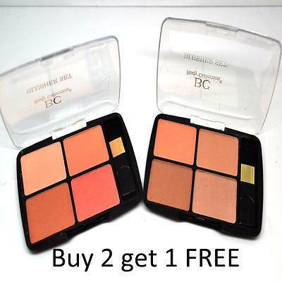 Body Collection Blusher Set 4 blushers and 1 Brush Pressed Powder Face Make Up