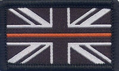 The Thin Orange Line Search & Rescue Woven Badge Patch Union Jack Flag 3 x 5cm