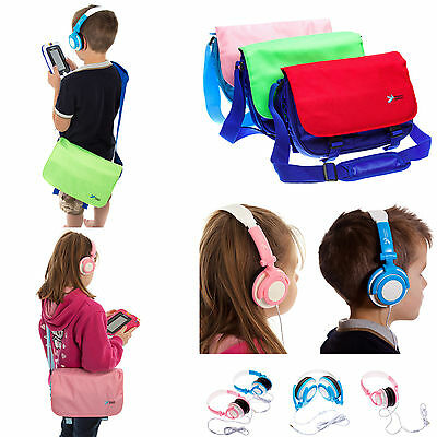Kids Boys Girls Messenger Bag Case + Headphones for Leapfrog LeapPad Ultra XDi