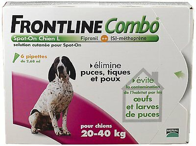 FRONTLINE COMBO Grand chien 20-40kg - 6pip - Anti-puce, anti-tique