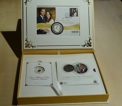 A00001 ROYAL MARRIAGE WILLIAM & CATHERINE - Set Numisbrief, Folder + Gold-Münze
