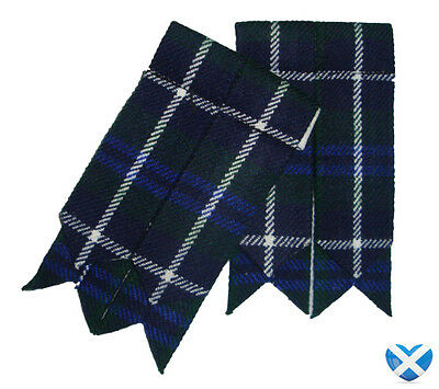 DOUGLAS Tartan Sock Hose Flashes NEW - Durable Acrylic Wool - Kilt Highland Wear
