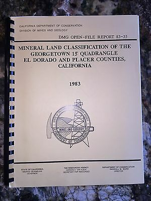 Mineral Land Classification of The GEORGETOWN 15' Quadrangle Gold Mine CALIF MAP