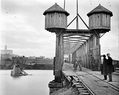 New 11x14 Civil War Photo: Fortified Bridge Over the Cumberland River, Nashville