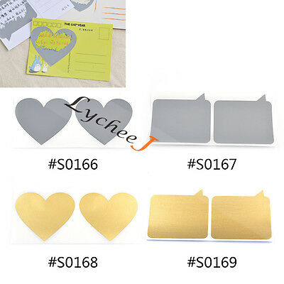10 Pcs Scratch Off Stickers for Post Card Greeting Cards Self Adhesive Festival