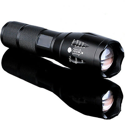 LED 18650 Flashlight 10000 Lumens Focus Torch Zoomable Light Lamp