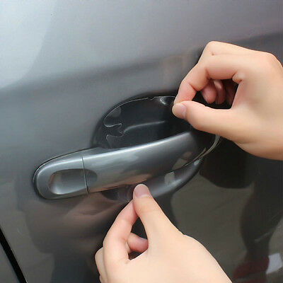 8pcs Car SUV Door Handle Invisible Protector Films Scratches Protector Stickers