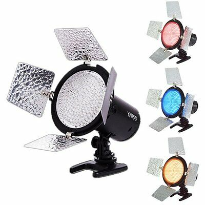Yongnuo YN-168 Pro LED Video Lamp Light w/ Colour Filter for Camera Camcorder UK