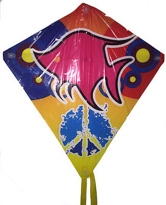 NewChildren Diamond Kite Easy to Fly Single Line Fun Kids Toy Colourful Assorted