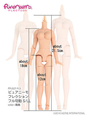 AZONE 1/6 Pure Neemo Flection S LL Bust Natural Skin Doll Body Blythe Size