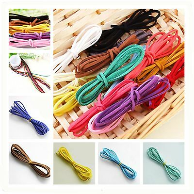 10yd 3mm Suede Leather String Jewelry Making Beading Thread craft cords