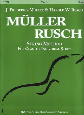 Muller Rusch String Method Violin 51VN Classical or Individual Study Kjos NEW