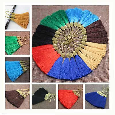 High quality Tassel Pendants Polyester Trim Mixed Craft Applique Jewelry DIY
