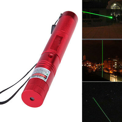 Powerful Red 532nm Laser Pointer Pen With Star Cap Adjustable + Safety Key Hot