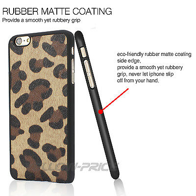 """For iPhone 6 4.7"""" Licenced USB Lightning Charger Cable+LEOPARD Pattern Case+Film"""