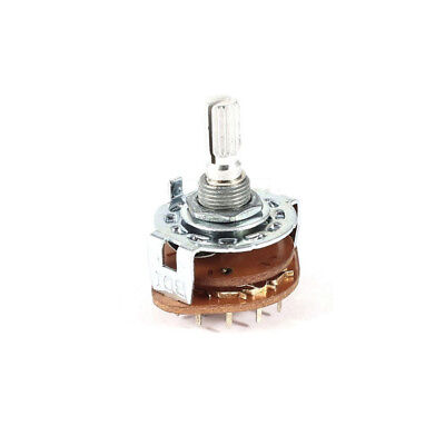 2Pcs 3 Pole 3 Position Band Channel Selector Rotary Switch 3P3T 6mm Dia Shaft