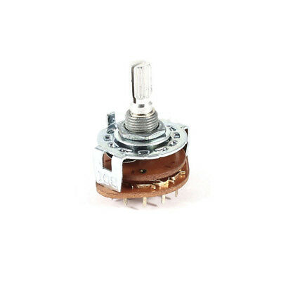 3 Pole 3 Position Band Channel Selector Rotary Switch 3P3T 6mm Dia Shaft