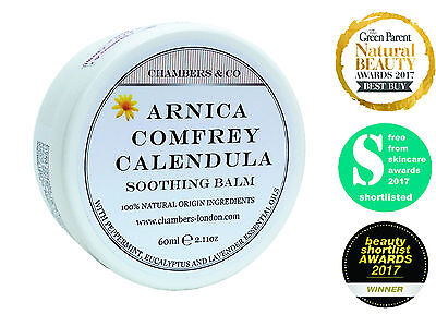 High Strength Arnica, Comfrey & Calendula Cream Balm by Chambers & Co (60ml)