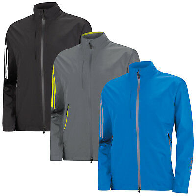 Adidas Mens Gore-Tex Waterproof Full Zip Jacket -New Coat Chest Pocket Golf 2016