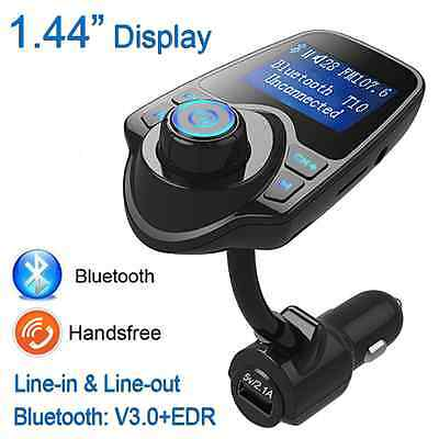 Handsfree FM Transmitter Bluetooth Car Kit MP3 USB Charger For iPhone Samsung S6