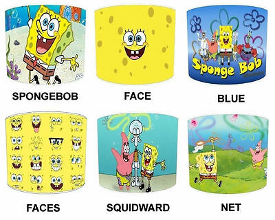 Lampshades Ideal To Match Spongebob Duvets & Spongebob Wall Decals & Stickers