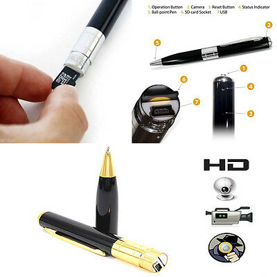 Penna Spia Micro Camera Nascosta Spy Pen Video Audio Foto Sd Cam Hd 1280X960