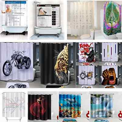 1.8M Shower Curtain Drop Long Polyester Fabric Mildew-free Premium Quality HOT