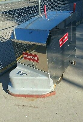 """Vintage mint condition Clarke TB24 24"""" battery-powered automatic floor scrubber"""
