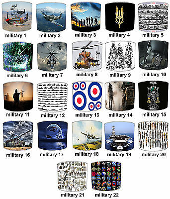 Lampshades Ideal To Match Military Forces RAF SAS Army Soldier Duvets & Wall Art