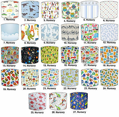Nursery Lampshades Ideal To Match Children`s Duvets & Wall Decals & Stickers