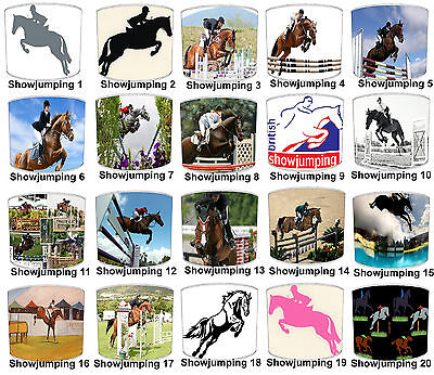 Horses Lampshades Ideal To Match Equestrian Show Jumping Wall Stickers & Decals
