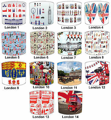 London Big Ben Cold stream Guards Lampshades, To Match london Design Cushions