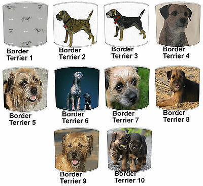 Border Terrier Dogs Designs Lampshades Ideal To Match Border Terrier Cushions